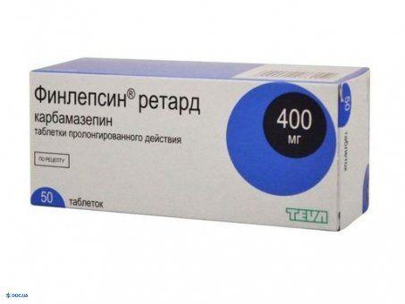 Финлепсин таблетки 400мг №50
