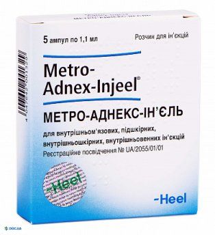 Метро-аднекс-инъель раствор для инъекций ампула 1,1 мл, №5