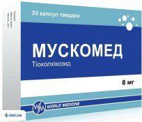 Препарат: Мускомед капсулы капсулы твердые 8 мг блистер, №20
