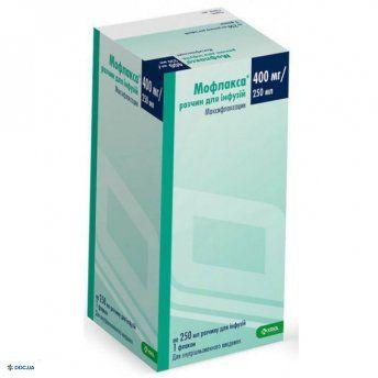 Мофлакса раствор для инфузий 400 мг/250 мл флакон 250 мл, №1