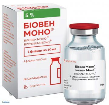 Биовен Моно раствор для инъекций 5%, 50 мл (иммуногл. чел. норм.)