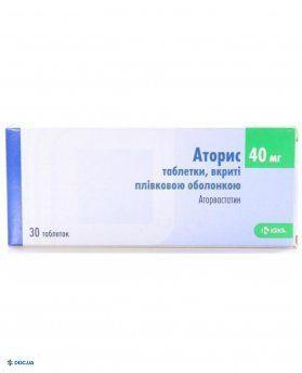 Аторис таблетки, п/о 40 мг, №30