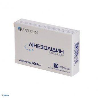 Линезолидин таблетки 600 мг №10
