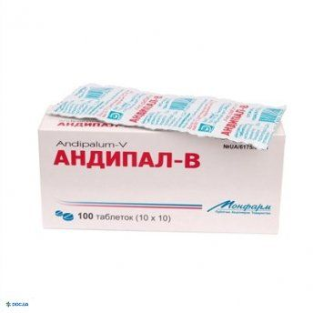 Андипал-В таблетки №100