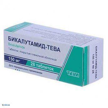 Препарат: Бикалутамид-тева таблетки 150 мг, №28