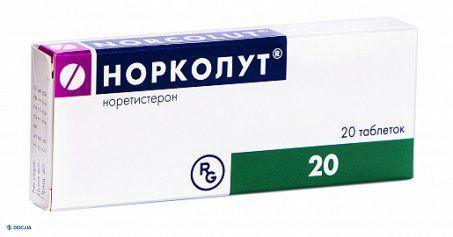 Норколут таблетки 5 мг, N20