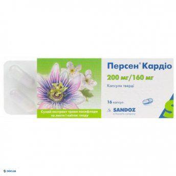 Персен кардио капсулы 200мг/160 мг №16