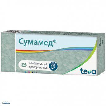 Сумамед таблетки диспергируемые 250 мг №6