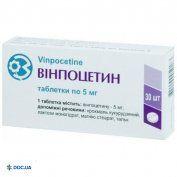Препарат: Винпоцетин таблетки 5 мг №30 ГНЦЛС