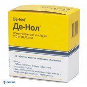 Препарат: Де-нол таблетки п/о 120 мг №112
