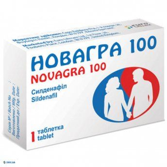 Новагра  100 мг, №1