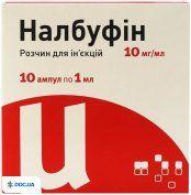 Препарат: Налбуфин - Юрия-Фарм раствор для инъекций 10 мг/мл, 1 мл ампулы, N10