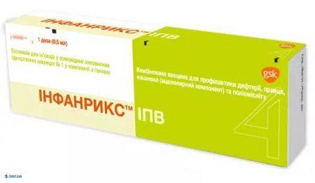 Инфанрикс ипв комбинированная вакцина суспензия для инъекций шприц одноразовый 0,5 мл, №1