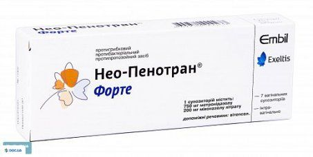 Нео-пенотран форте суппозитории вагинальные, №7