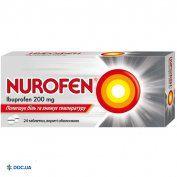 Препарат: Нурофен таблетки 200 мг, №24
