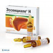 Препарат:  Эссенциале Н раствор для инъекций 250 мг/5мл 5 мл №5