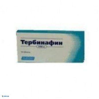 Тербинафин таблетки 250 мг, №10
