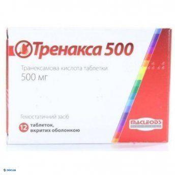 Тренакса 500 мг таблетки №12