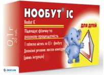 Препарат: Нообут IC таблетки 0.1, N20