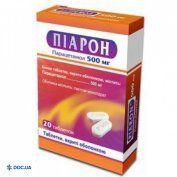 Препарат: Пиарон таблетки 500 мг №20