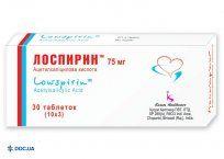 Препарат: Лоспирин таблетки 75мг №30