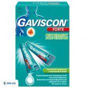 Препарат: Гавискон форте мятная суспензия 10 мл №20