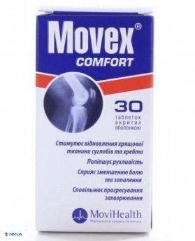 Мовекс комфорт таблетки, вкриті оболонкою пляшка, №30