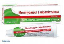 Препарат: Метилурацил с мирамистином мазь туба 30 г, №1