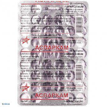 Аспаркам таблетки №50 Красная звезда
