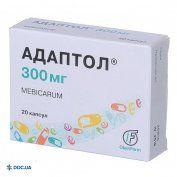 Препарат: Адаптол капсулы 300 мг №20