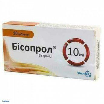 Бисопрол таблетки 10 мг №30