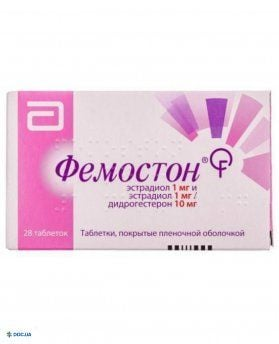 Фемостон комби таблетки 1мг/1мг+10 мг №28