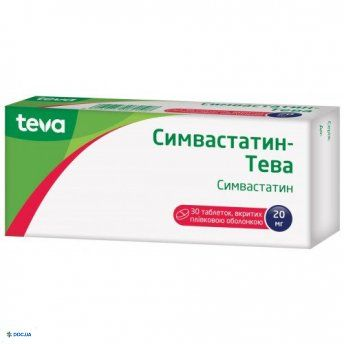 Симвастатин-Тева таблетки 20 мг №30