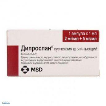 Дипроспан суспензия для инъекций шприц 2 мл, с одной или двумя иглами в пластиковом контейнере, №1