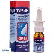 Препарат: Тизин Ксило спрей 0,1% р-р 10 мл, №1