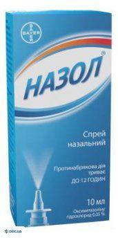 Назол назальный спрей, 0,05%, флакон, 10 мл