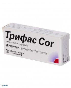 Трифас СOR таблетки 5 мг №30