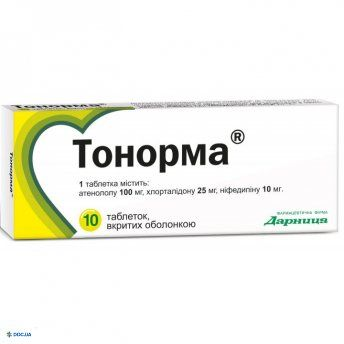 Тонорма таблетки №10
