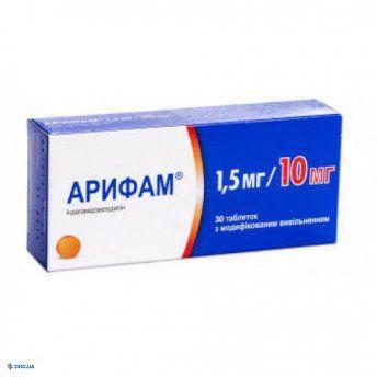 Арифам таблетки 1,5 мг/10 мг №30
