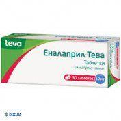Препарат: Эналаприл-Тева таблетки 10 мг №30