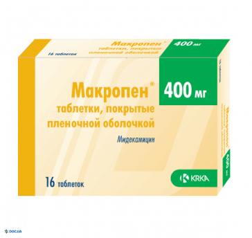 Макропен таблетки 400 мг №16
