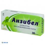 Препарат: Анзибел пастилки со вкусом ментола, №30