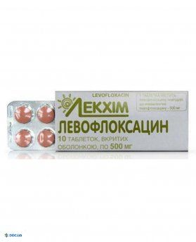 Левофлоксацин таблетки 500 мг №10